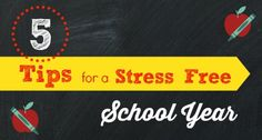 5 Tips for a Stress Free School Year http://www.pre-kpages.com/5-tips-for-a-stress-free-school-year/