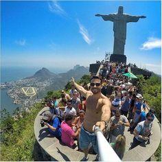 Poço Do Dinossauro Serrinha Do Alambari Penedo RJ Rio De - Guy takes epic selfie top christ redeemer statue brazil