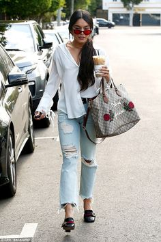 80cab3311532 Vanessa Hudgens is spotted making a coffee run while out in Hollywood