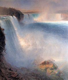 "Les chutes du Niagara  ""Niagara Falls"" - tableau de Frederic Edwin Church  (1867)"