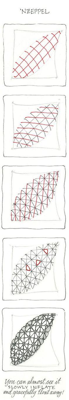 Zentangle step by step / Nzeppel Zentangle
