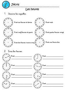 Exercices pour apprendre à lire l'heures | ecole | Apprendre à lire l'heure, Exercice ce1 et ...