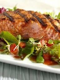 BBQ Salmon Salad   KitchenDaily.com