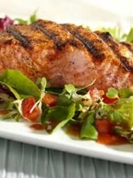 BBQ Salmon Salad | KitchenDaily.com