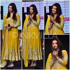 Yay or Nay : Aishwarya Rai Bachchan in Abu Jani Sandeep Khosla Ethnic Fashion, Indian Fashion, Asian Party Wear, Churidhar Designs, Function Dresses, Indian Anarkali, Desi Wear, Aishwarya Rai Bachchan, Bollywood Fashion