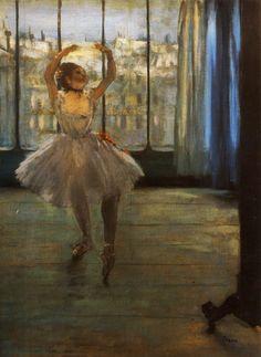 Edgar Degas — Dancer Posing, 1878, Edgar DegasMedium: oil on...