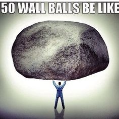 #Crossfit Wall Balls! #ClaireCringes @girlsgonewodpodcast
