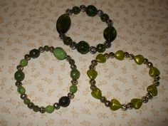 Hey, I found this really awesome Etsy listing at https://www.etsy.com/listing/83615760/green-stretch-bracelets