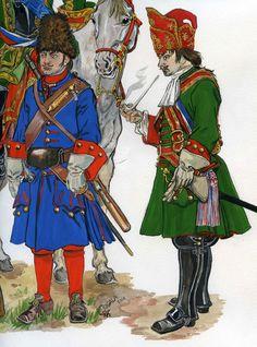 Private Dragoon, officer Horse Grenadiers Rossiya.1709-11.