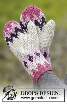 Free Pattern--Pink Maze mittens