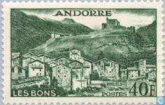 Andorra - French - Landscapes 1955