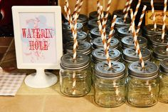 Great use of mason jar sippers