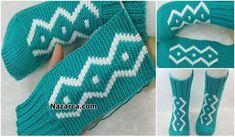 BELDE DARALAN BURGULU İNCE BELLİ KADIN YELEK | Nazarca.com Crochet Motif, Cross Stitch Patterns, Diy And Crafts, Slippers, Knitting, Bags, Friendship Bracelets, Jewelry, Fashion