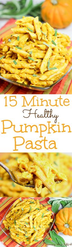 Healthy Pumpkin Pasta | Running in a Skirt - Part 2