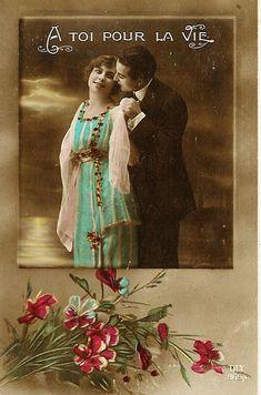 POSTALES ROMANTICAS EN LIMA ANTIGUA