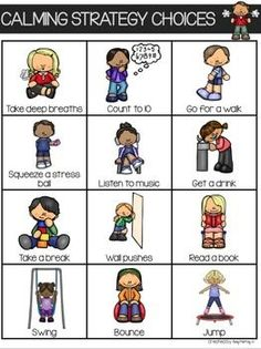 Social Skills 110549365832980727 - Calming Strategies Visual Cards Source by jenarsie Preschool Behavior, Classroom Behavior, Emotional Regulation, Self Regulation, Zones Of Regulation, Teaching Social Skills, Social Emotional Learning, Behaviour Management, Classroom Management