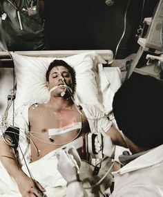 Vincent in the hospital after being resurrected by Lilly < That's Dean