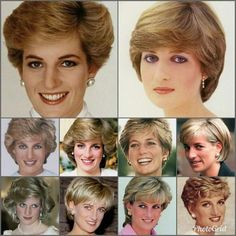 Royalty ©: Diana, (Peoples') Princess of Wales Princess Diana Hair, Princess Diana Fashion, Princess Diana Family, Princess Diana Pictures, Royal Princess, Princess Of Wales, Princesa Diana, Diana Haircut, Pelo Color Plata