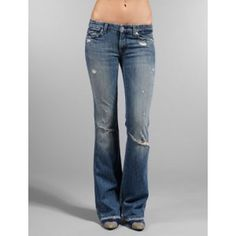 7 For All Mankind Squiggle Bootcut Jeans in Vintage Allston as seen on Jessica Alba