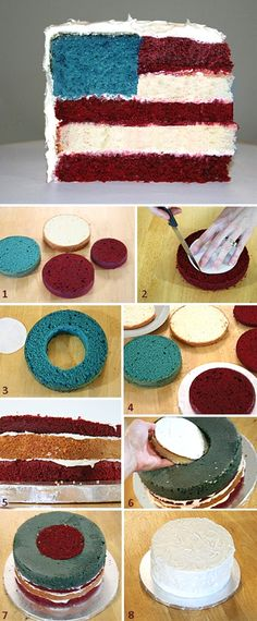 American Flag Cake How-to.. get outta here!
