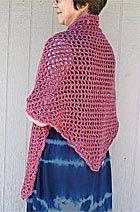 KraemerYarns.com free pattern: Crochet Triangle Shawl