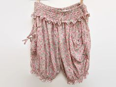 Pretty pink floral bloomers name using vintage materials and Victorian inspired design. So cute, so cute! Will fit UK sizes 8-14