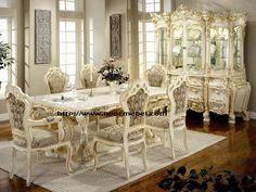 Set Kursi Makan Victorian Mewah Set Kursi Makan Victorian Mewah