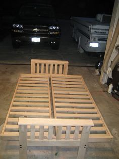 How to Make a Fold Out SofaFutonBed Frame Futon bed frames