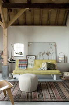 Simplicity, maybe an art studio. Boho Decor Living Space | Bohemian Home Inspiration