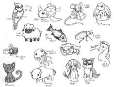 Kawaii+animal+drawing | Cute Chibi Animals 3 by ~CrimsonAngelofShadow on deviantART
