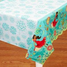 Disney Princess Elena of Avalor Theme Birthday Party; Princess Elena Tablecloth; Disney's Avalor Tablecloth; table decorations; baby shower by SimplyCreatedForYou6 on Etsy