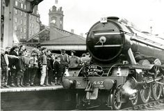 See these fascinating photos of a lost era when Nottingham was a great railway hub - Nottinghamshire Live Flying Scotsman, Nottingham City, Steam Railway, British Rail, Steam Locomotive, Train Station, Victoria, History, Lost