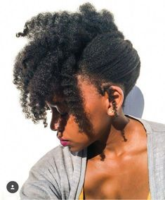 Afro hair is typically associated with natural curls that have a thick, frizzy texture. Such a distinctive type of hair might seem hard to manage, but this has not stopped African beauties from spo… Natural Hair Cuts, Natural Hair Updo, Natural Afro Hairstyles, Natural Black Hair, Dark Hair, African Hairstyles, Braided Hairstyles, Black Hairstyles, Updos For Black Hair