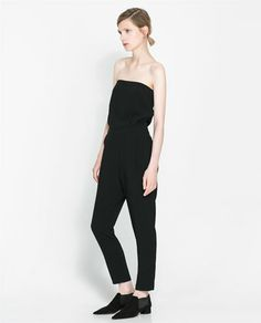 STRAPLESS JUMPSUIT - Dresses - Woman | ZARA United States