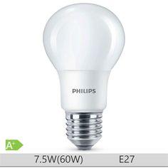 Bec LED Philips 7.5W E27 forma clasica A60, lumina rece http://www.etbm.ro/tag/148/becuri-led-e27