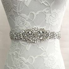 Trendy Magnificent Crystal Bridal Luxury Female Strap Floral Dress Women Belts Diamond Waistband Girdle Headband for Wedding //FREE Shipping Worldwide //