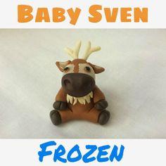 Polymer clay Baby Sven from Frozen - great step-by-step tutorial and directions.