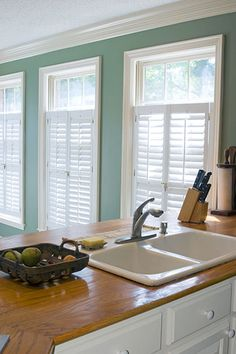 Our wooden shutters are a statement in style and radiate natural beauty. We manufacture, distribute and install custom-made wooden shutters across South Africa. Bright Kitchens, Interior Windows, Home, Windows, Cafe Style Shutters, Interior Shutters, Interior Sliding Barn Doors, Cafe Style, Interior Doors For Sale