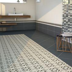 Hastings Black Pattern Floor Tile   SKU: 024035   Tile Choice