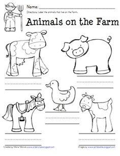 free farm worksheets for kindergarten - Google Search