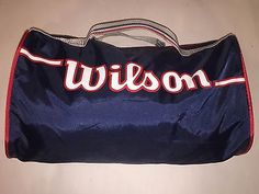 24983f0c8af9 Classic Vintage Wilson Gym Duffle Bag New Never Used Red White Blue