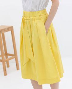 Yellow Full Skirt