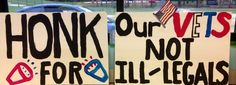 2 more signs for 7/12/14 overpass protest
