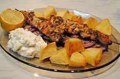Souvlaki Chicken Recepies, Paella, Cobb Salad, Ethnic Recipes, Pork