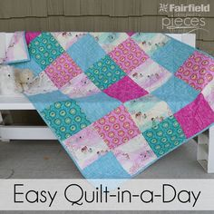 Sometimes you need a quilt on really short notice, so you need a go-to simple quilt pattern. Simple blocks can be used to make some of th... Charm Pack Quilts, Easy Quilt Patterns, Quilting Ideas, Easy Quilts, Quilt Tutorials, Picnic Blanket, Outdoor Blanket, Wander, Quilt Patterns