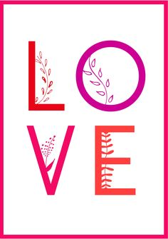 A Valentine's Day template with a white background and the word love written inside it. Valentines Day Card Templates, Bond Paper, Printables, Writing, Words, Free, Design, Print Templates