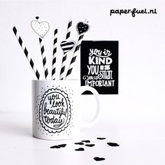 Mug by Paperfuel You look beautiful today! #lettering #paperfuel