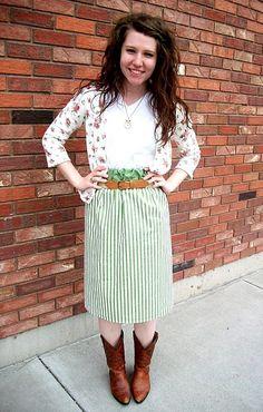 diy skirt from a pillow case