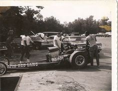 Vintage Drag Racing - Dragster - Rapid Red Line