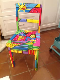 In the manner of Adeline is part of Painted furniture - Painted Wooden Chairs, Whimsical Painted Furniture, Hand Painted Furniture, Funky Furniture, Colorful Furniture, Art Furniture, Repurposed Furniture, Furniture Makeover, Painted Tables